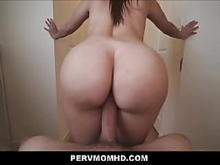 Big Tits Big Ass Latina MILF Stepmom Fucked Away from Big Locate Young Stepson POV