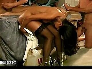Female pornstar gets an accidentally orgasm in photo session